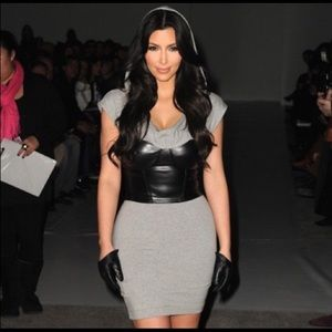 Nwt Bebe Kardashians hooded corset dress